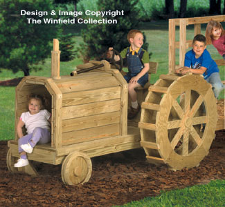 Tractor Play Structure Woodworking Plans