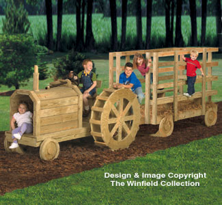 Tractor & Haywagon Play Structure Plans