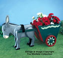 Donkey & Cart Planter Wood Pattern
