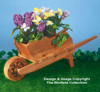 Planter Woodworking Plans Wheelbarrow Planter Wood Plan