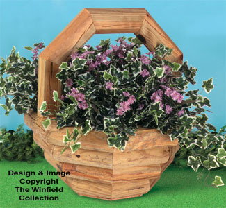 Landscape Timber Basket Planter Woodworking Plan