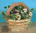 Patio Basket Planter #1 Wood Pattern
