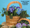 Patio Basket Planter #3 Wood Pattern