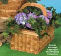 Patio Basket Planter #4 Wood Pattern