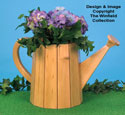 Watering Can Planter Wood Pattern