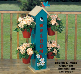 Welcome Birdhouse Planter Woodworking Plan