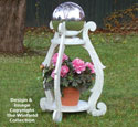 Gazing Ball Plant Stand Woodworking Plan