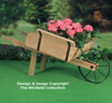 Rustic Wheelbarrow Planter Wood Pattern
