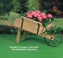 Rustic Wheelbarrow Planter Wood Pattern