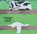 Cow & Goose Rail Pets Pattern