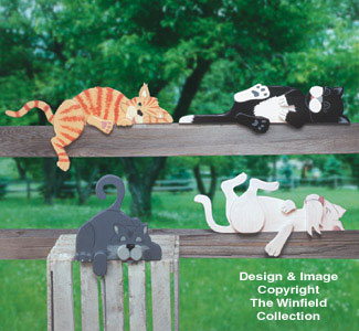 Lazy Rail Cats Woodcraft Pattern