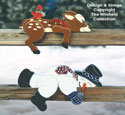 Lazy Winter Pals Wood Pattern