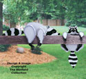 Raccoon Rail Pets Woodcraft Pattern