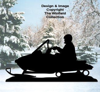 Snowmobiler Shadow Woodcrafting Pattern