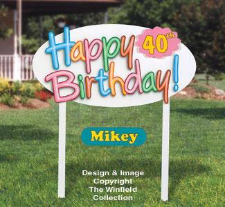 Happy Birthday Sign Wood Pattern