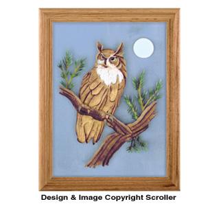 Great Horned Owl Scroll Saw Pattern