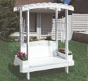 Garden Trellis Bench Plans