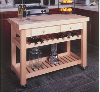 Kitchen Island Wood Project Plan