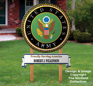 Army Yard Sign Woodcrafting Pattern