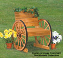 Wagon Wheel Chair Woodworking Plan