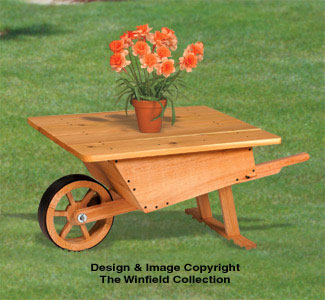 Wheelbarrow Table Woodworking Plan