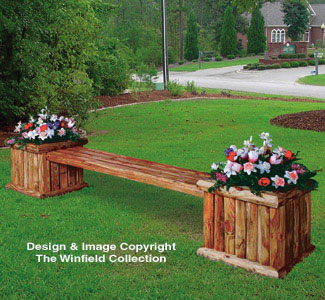 Landscape Planter Bench Woodworking Plan