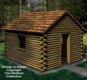 Landscape Timber Playhouse Woodworking Plan