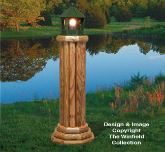 Large Landscape Timber Lighthouse Wood Plan