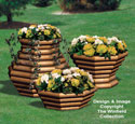 Landscape Timber Planter Trio #3 Wood Pattern
