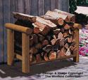 Landscape Timber Firewood Rack Wood Plan