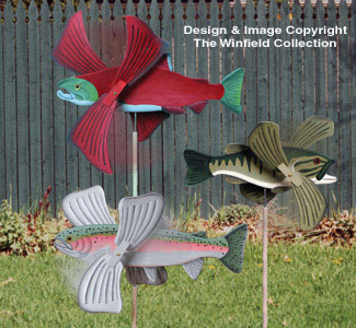 Fish Whirligigs Woodcrafting Pattern