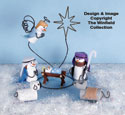 Miniature Snowman Nativity Woodcraft Pattern