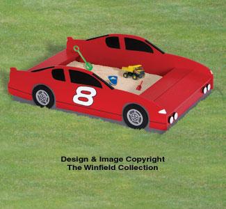 Race Car Sandbox Woodworking Plan