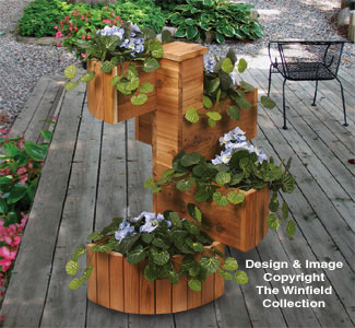 Cedar Spiral Planter Woodcrafting Plans