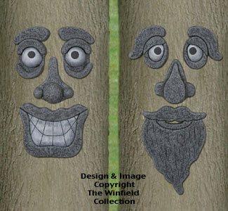 Tree Faces Woodcraft Project Pattern