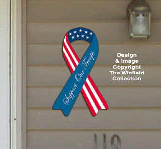 House Ribbon - Support Our Troops Pattern