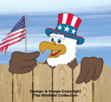 Eagle & Patriotic Eagle Fence Peekers Pattern