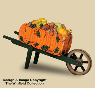 Pumpkin Wheelbarrow Wood Pattern