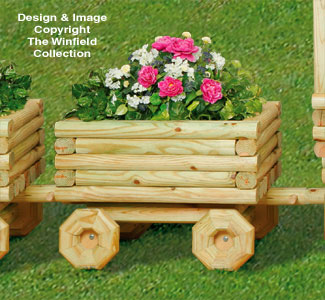 Landscape Timber Train Car Planter Pattern