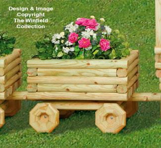 Landscape Timber Train Car Planter Pattern