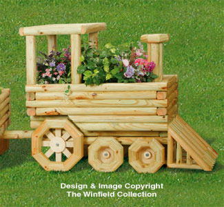 Landscape Timber Locomotive Planter Pattern