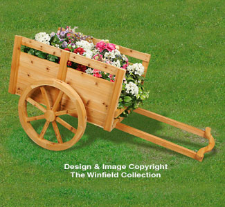 Cedar Cart Planter Woodworking Pattern