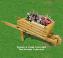 Landscape Timber Wheelbarrow Planter Pattern