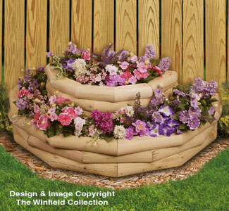 how to build a flower box with landscape timbers