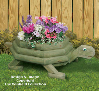 Large Landscape Timber Turtle Planter Plans