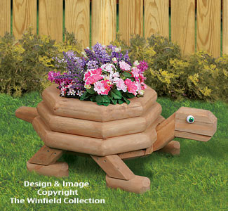 Medium Landscape Timber Turtle Planter Plans