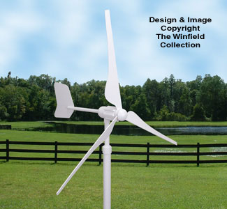 Mini Wind Generator Wood Pattern