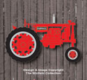 Small Farmall Tractor Wall Decor Woodcraft Pattern