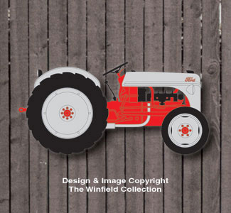 Small Ford Tractor Wall Decor Woodcraft Pattern