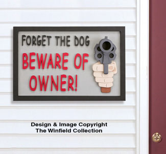 Beware of Owner Sign Woodcraft Pattern